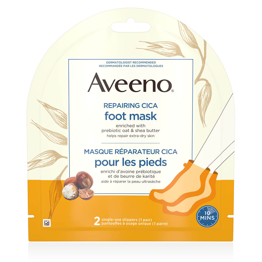 aveeno repairing foor mask package