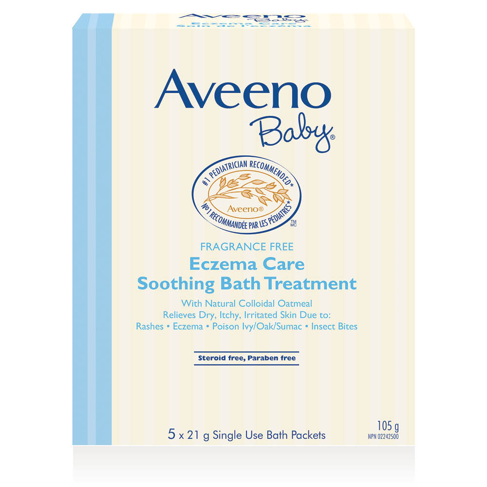 aveeno baby soothing bath treatment box