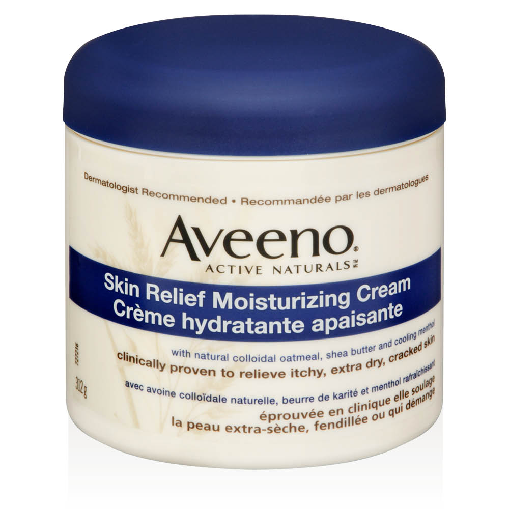 aveeno skin relief moisturizing body cream tub