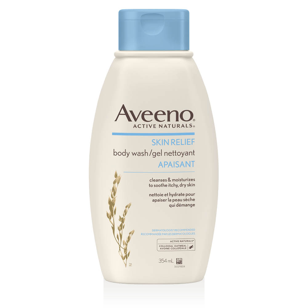 aveeno skin relief body wash bottle