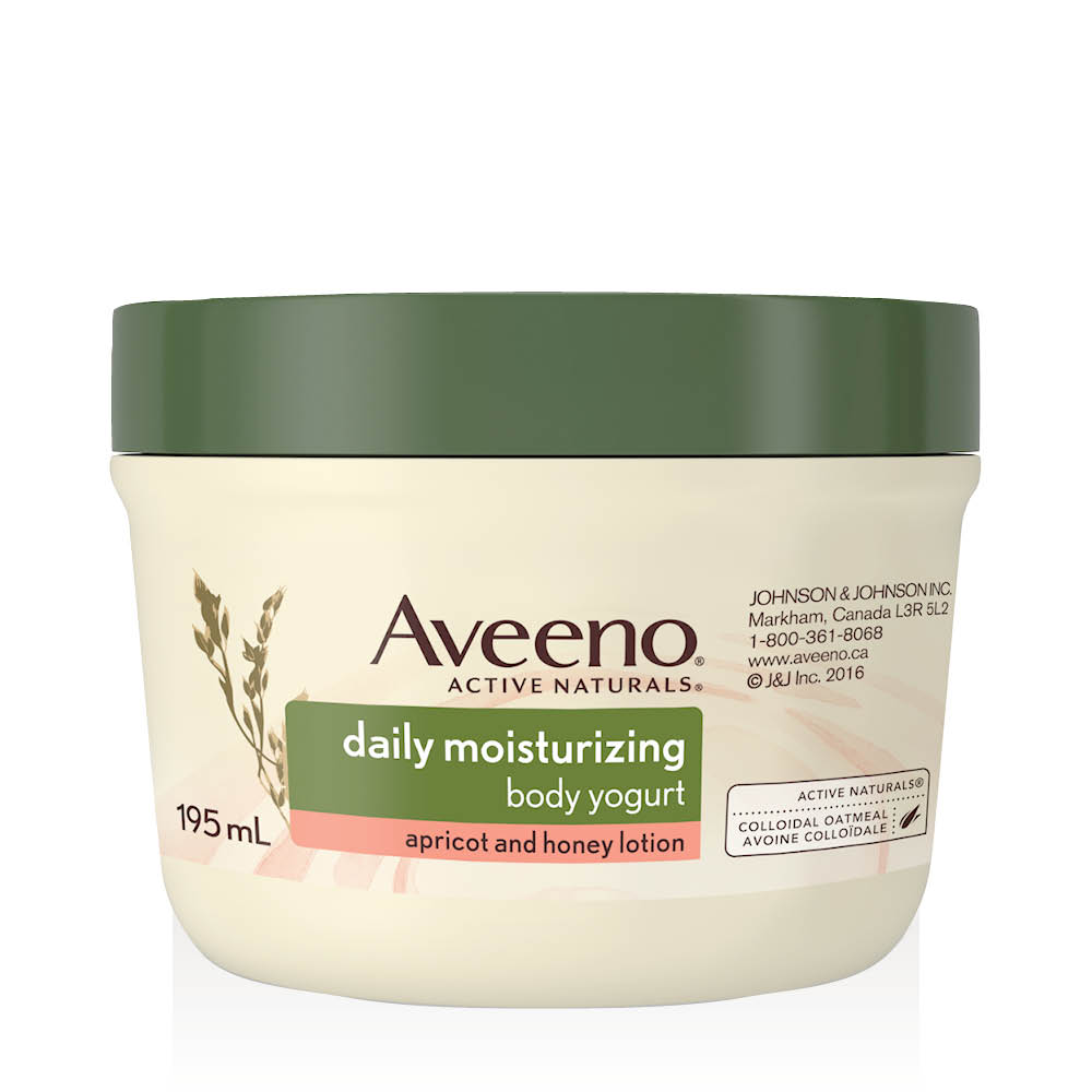 aveeno apricot honey body yogurt tub