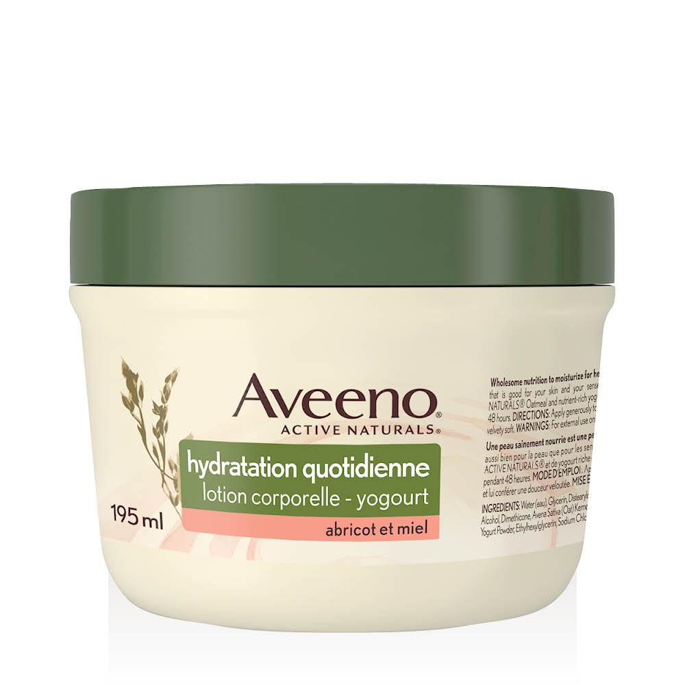 Pot de 195 ml de la lotion au yogourt Abricot et miel Aveeno