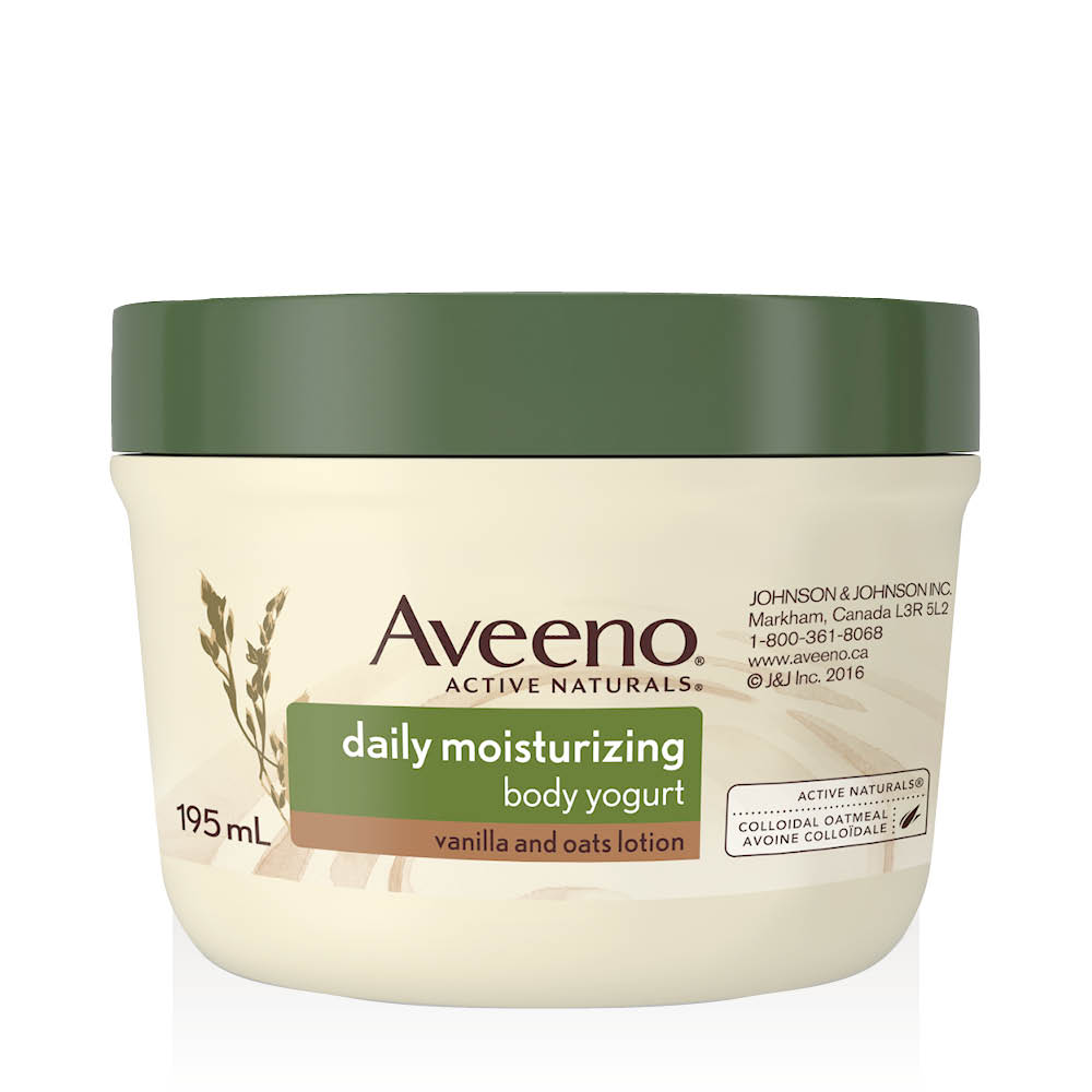 aveeno vanilla and oats body yogurt tub