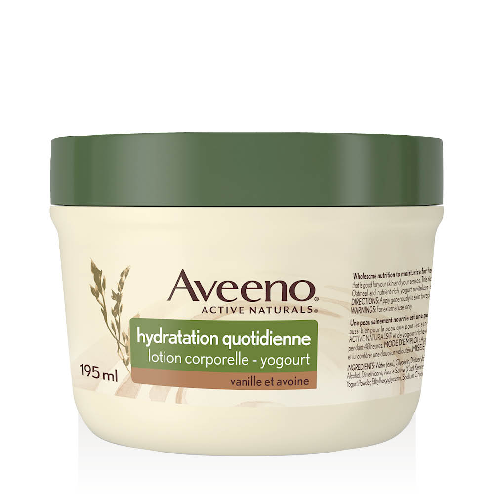 aveeno vanilla and oats body yogurt 195 ml tub