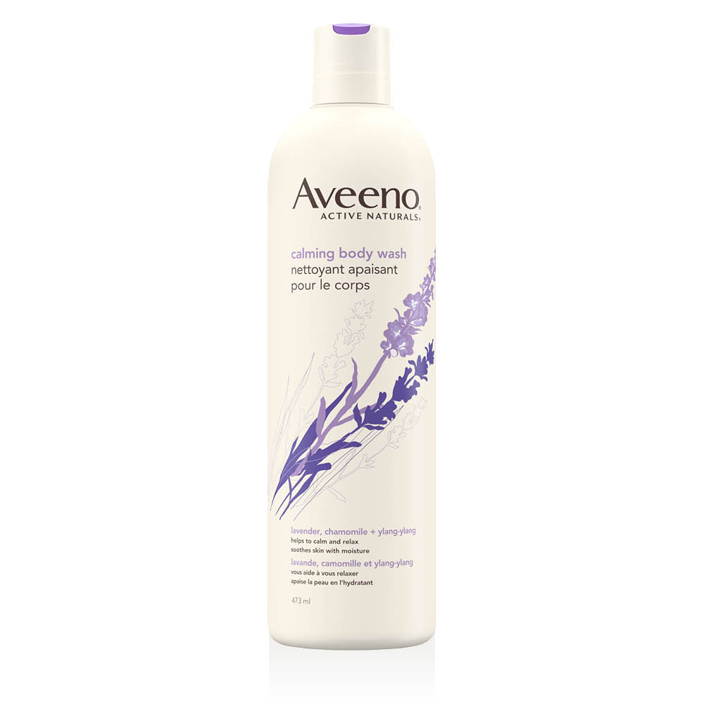 aveeno calming body wash bottle