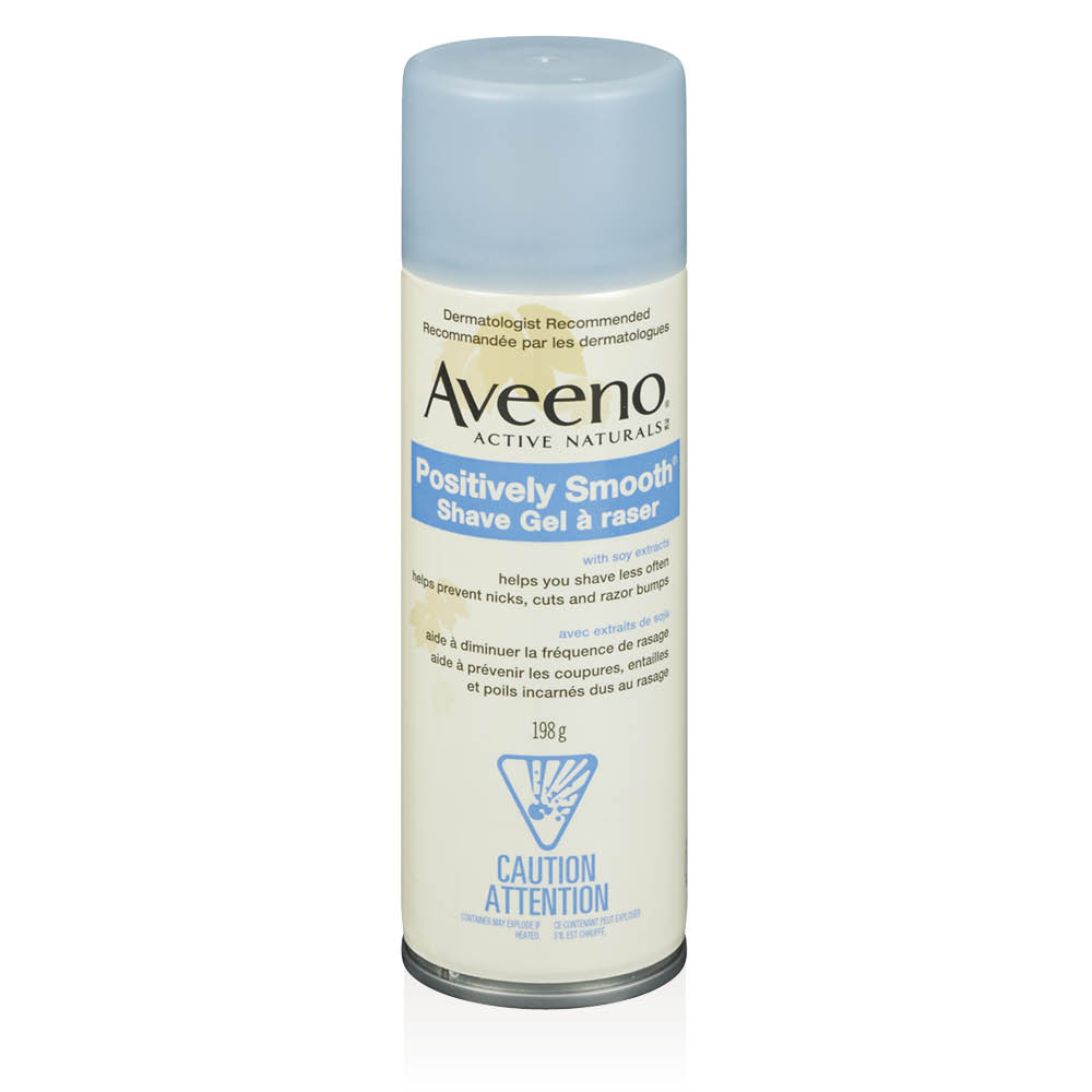 aveeno positively smooth shavel gel bottle
