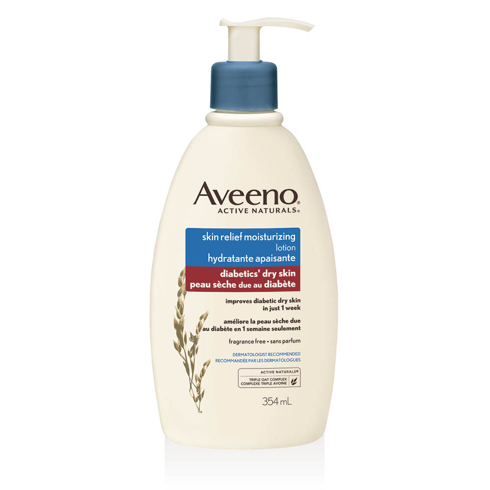 aveeno skin relief lotion bottle for dry skin