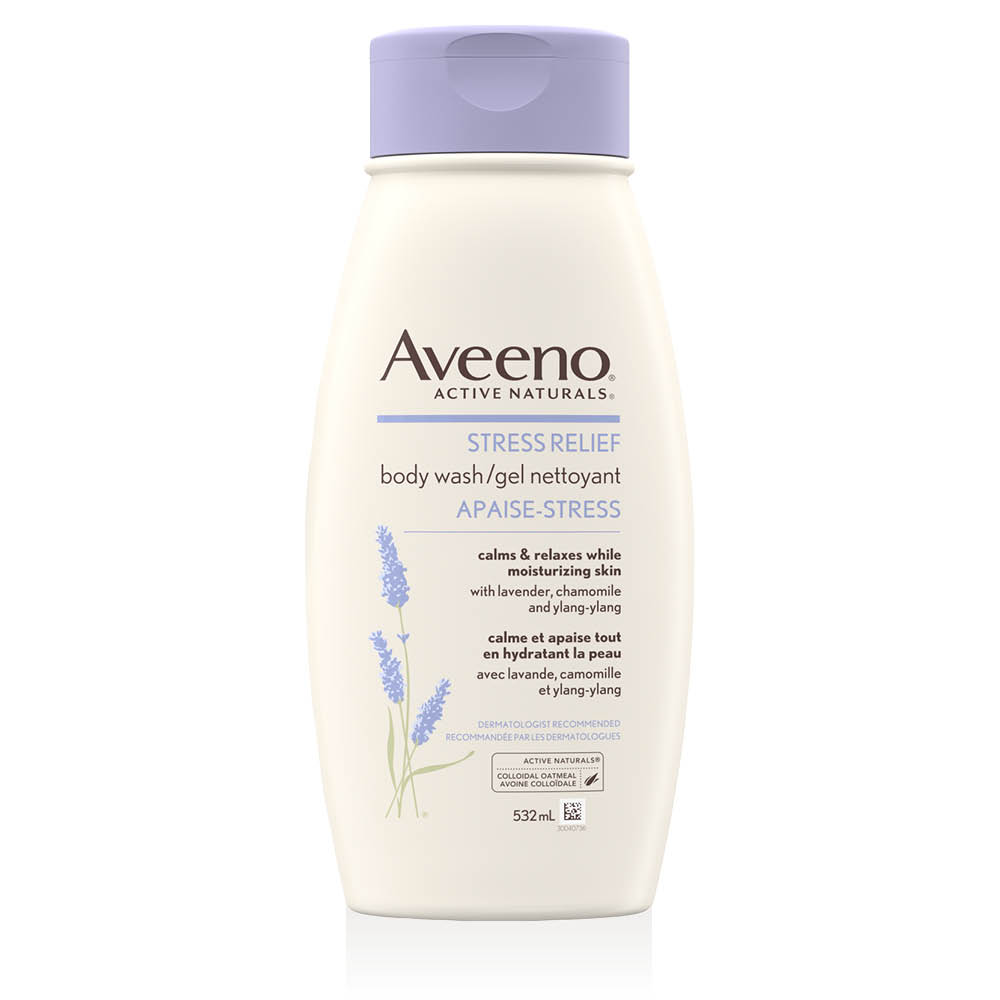 aveeno stress relief body wash bottle