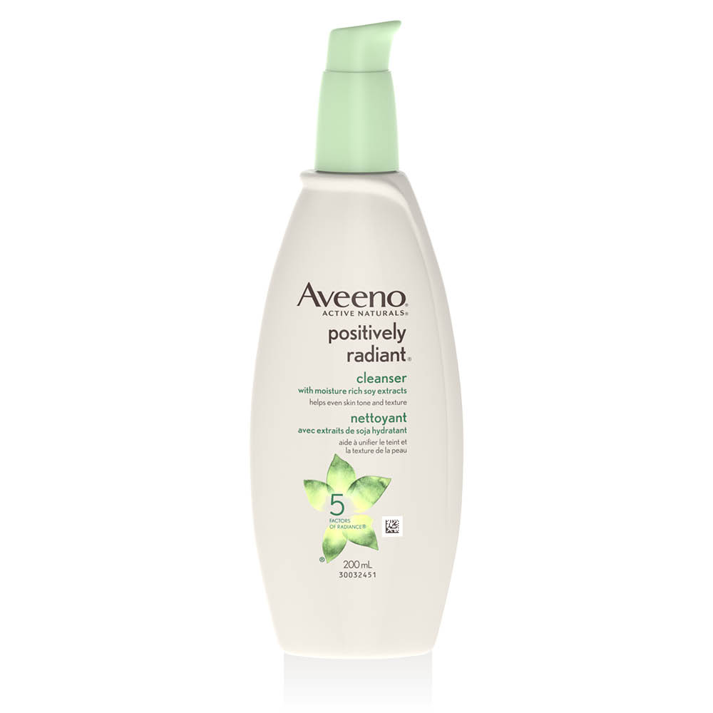 aveeno positively radiant face cleanser pump