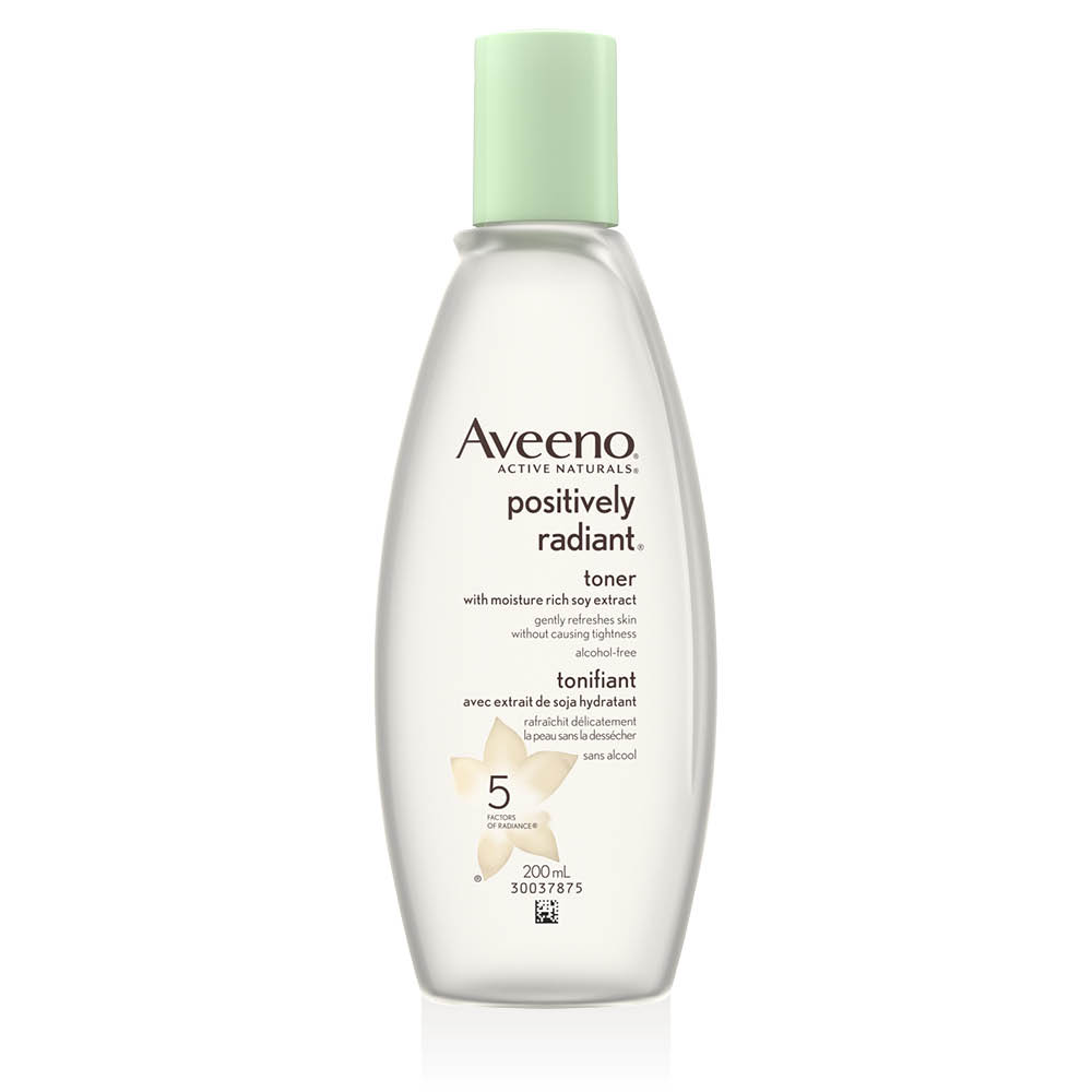 aveeno positively radiant face toner bottle