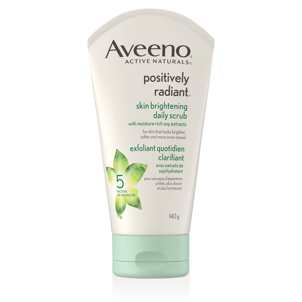 aveeno positively radiant face scrub tube