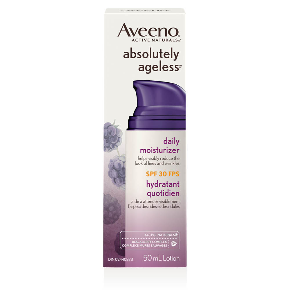 aveeno absolutely ageless spf 30 face moisturizer box