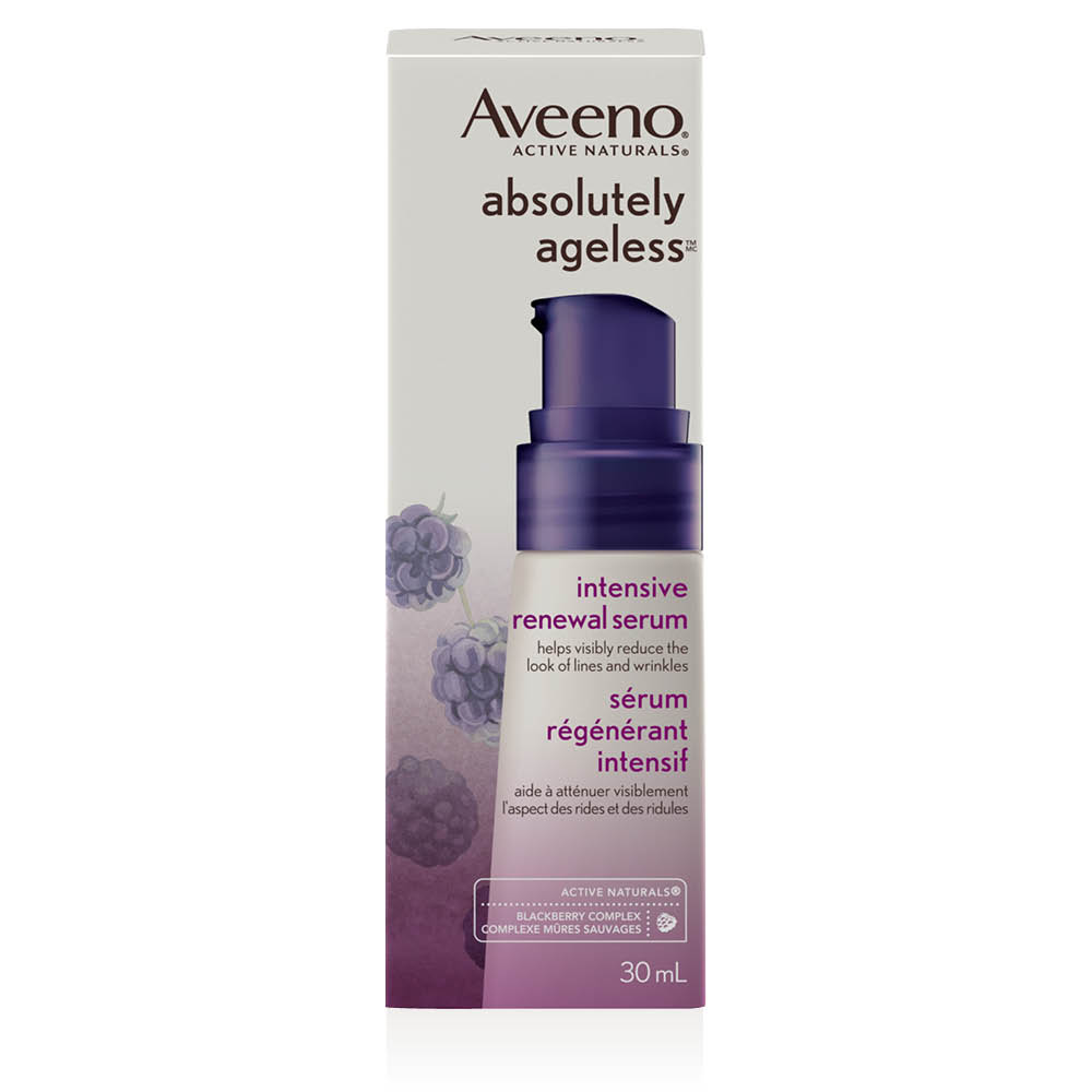 aveeno absolutely ageless face serum box
