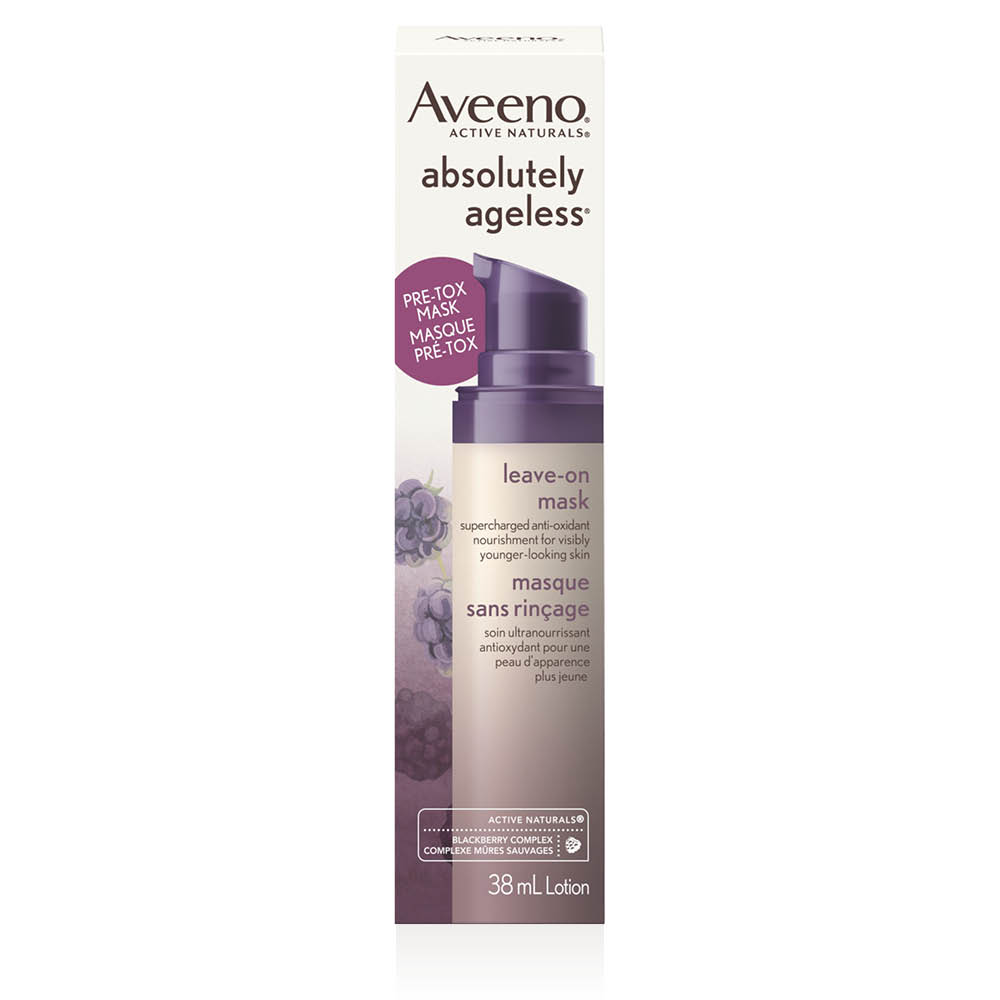 aveeno absolutely ageless leave on face mask box
