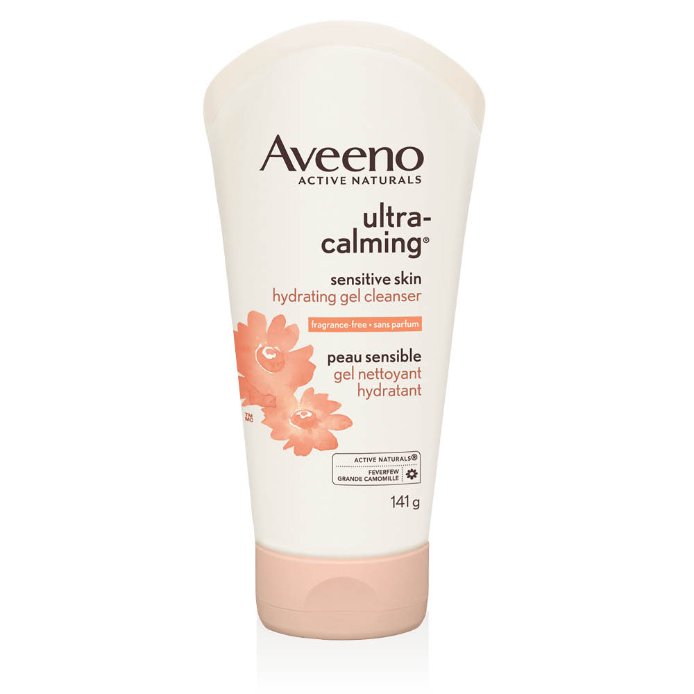 Tube du gel nettoyant hydratant pour le visage Aveeno ultra calming