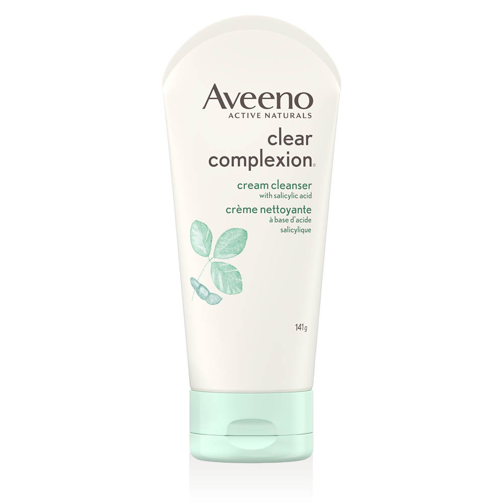 aveeno clear complexion face cleanser tube