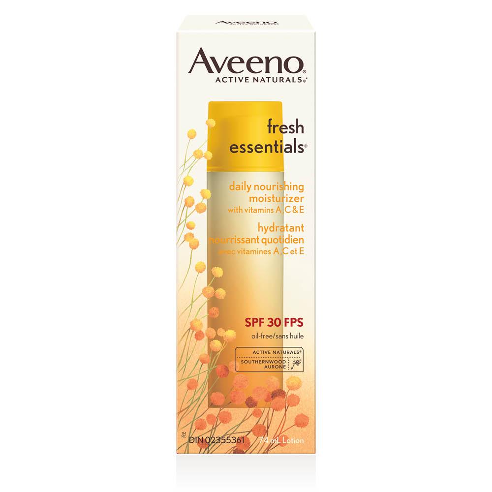 Boîte de l'hydratant pour le visage Aveeno fresh essentials fps 30