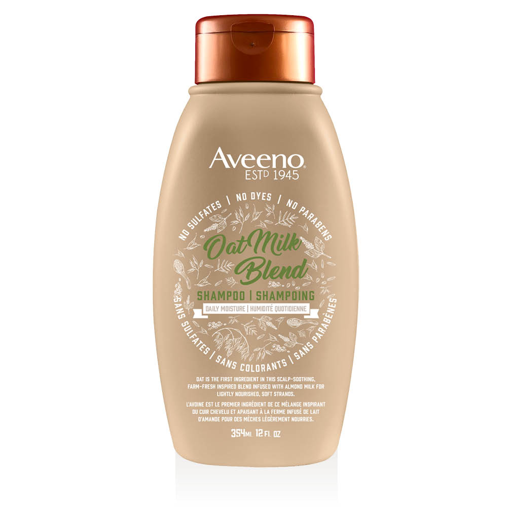 aveeno oat milk shair shampoo bottle