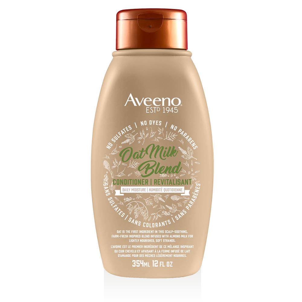 aveeno oat milk hair conditioner bottle