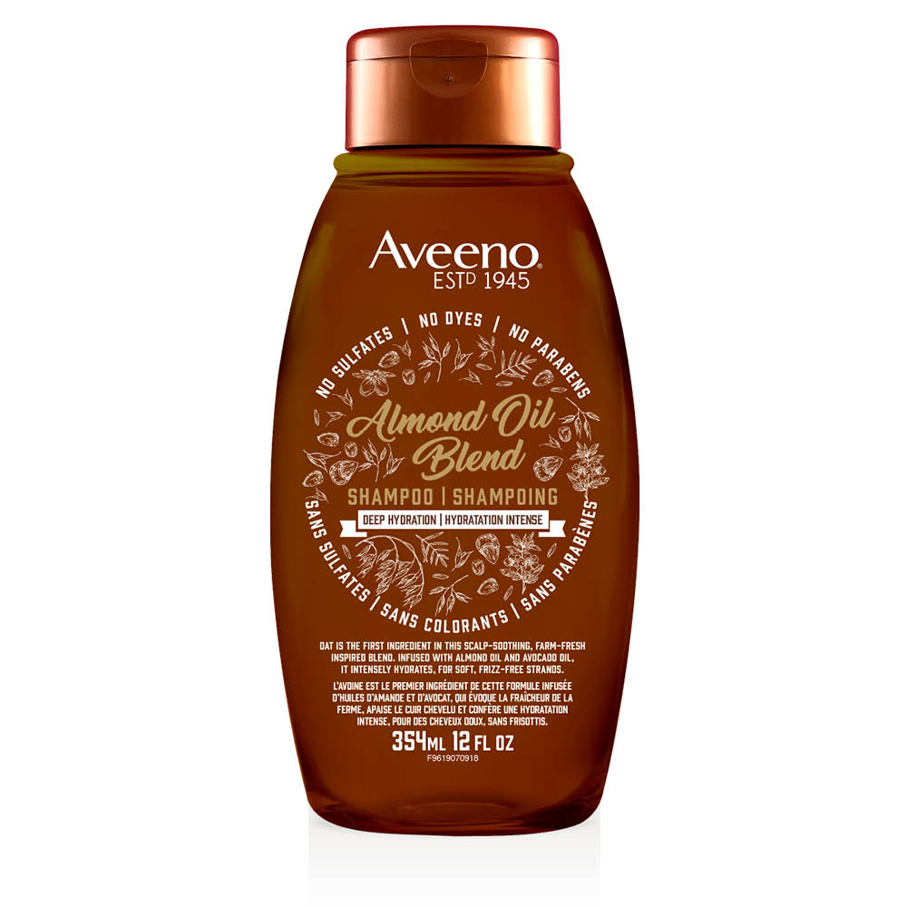 aveeno almond oil hair shampoo bottle