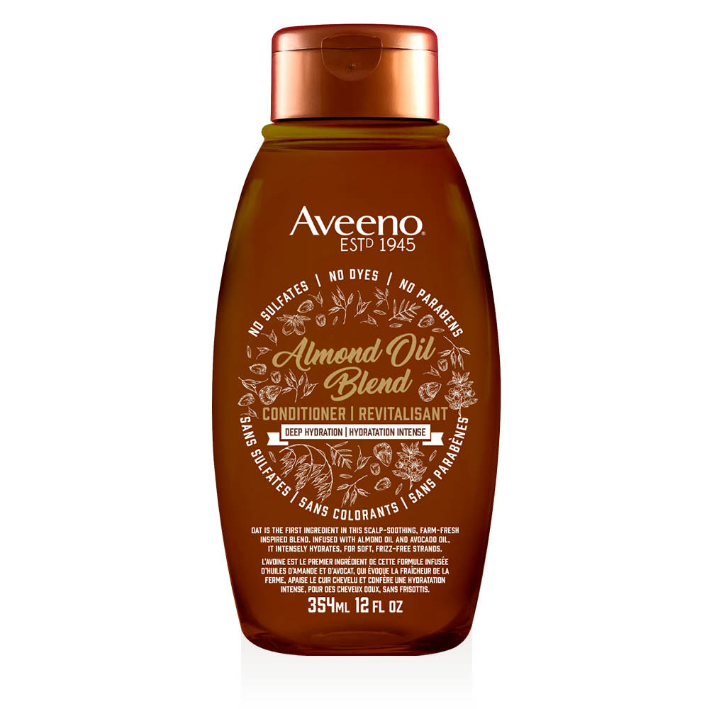 aveeno almond oil hair conditioner bottle