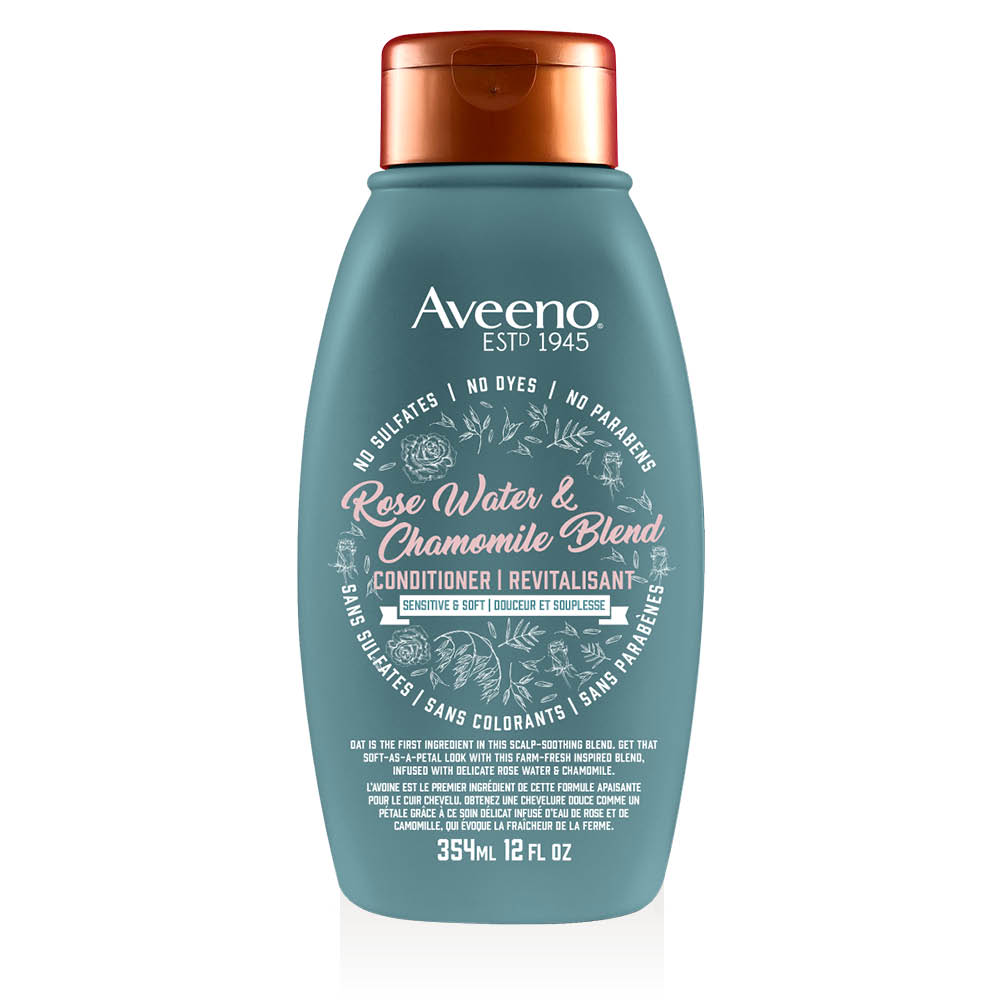 aveeno rose water hair conditioner bottle