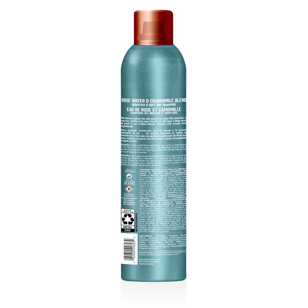 aveeno rose water dry shampoo spray