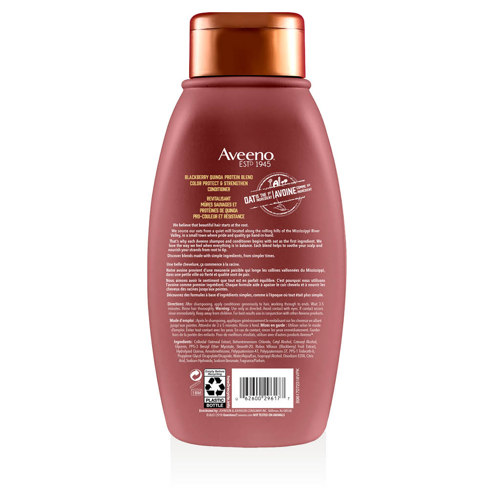 aveeno blackberry quinoa conditioner bottle
