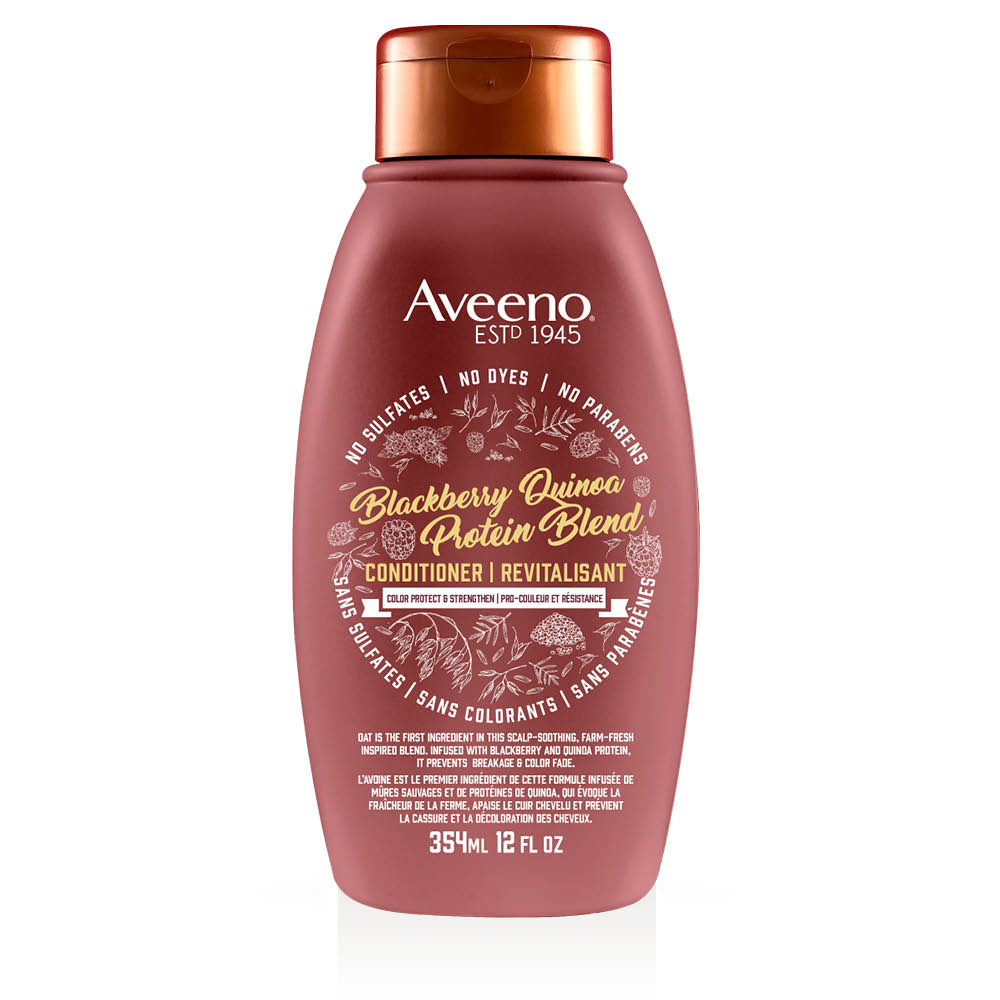 aveeno blackberry quinoa hair conditioner bottle