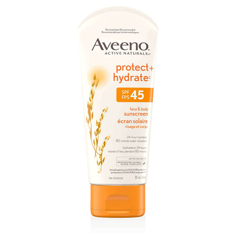 aveeno protect and hydrate spf 45 sun lotion