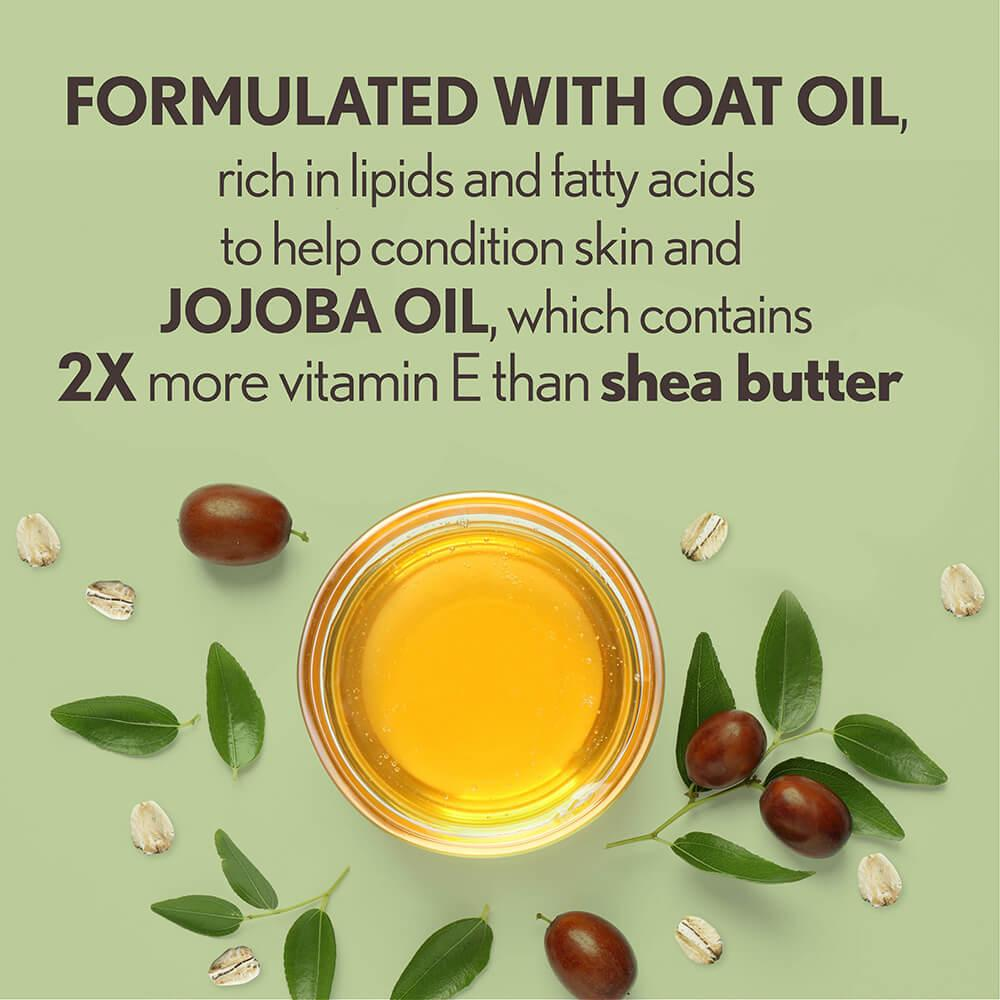 Aveeno Daily Moisturizing Oil Mist Ingredients: A Bowl of Oat and Jojoba Oil
