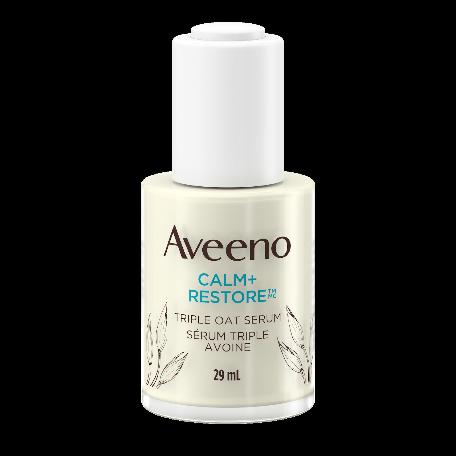 AVEENO® Calm + Restore Sensitive Skin Triple Oat Serum 29mL Bottle