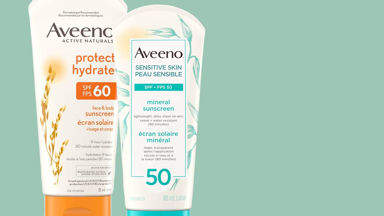 AVEENO® broad spectrum sunscreen