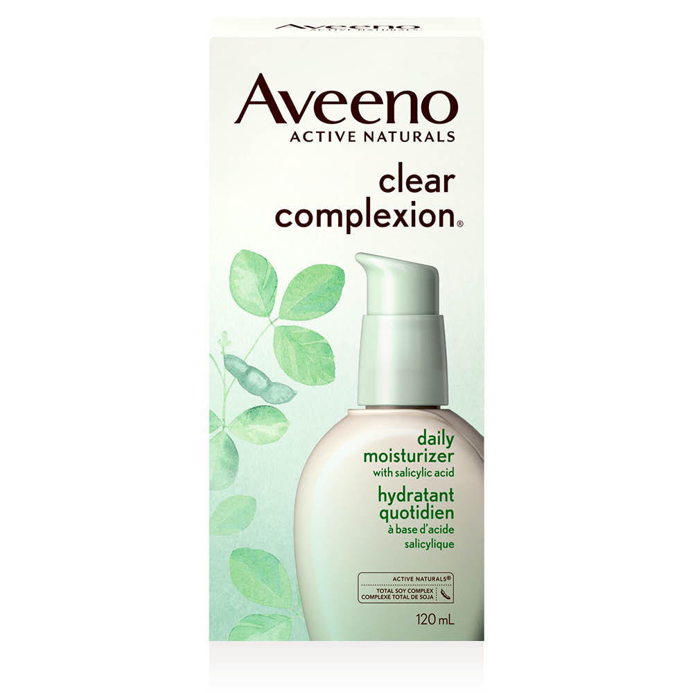 aveeno clear complexion face moisturizer box