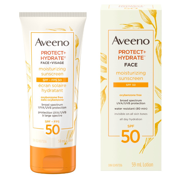Aveeno's Protect and Hydrate Face Sunscreen with SPF 50