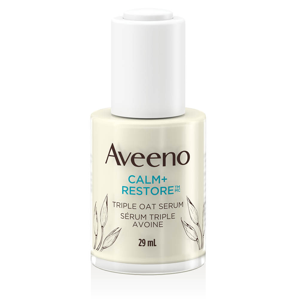 AVEENO® Calm + Restore Sensitive Skin Triple Oat Serum 29mL Bottle