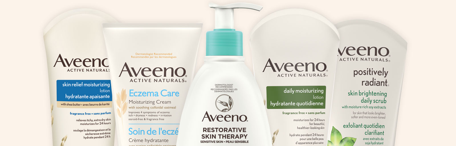 Aveeno body skincare products for moisturized, healthy skin