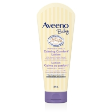 Aveeno calming lavendar and vanilla lotion bottle