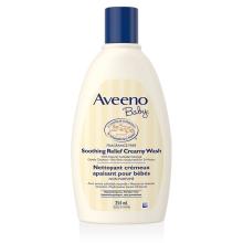 Flacon du nettoyant crémeux apaisant Aveeno