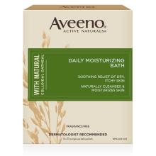 aveeno daily moisturizing bath treatment box