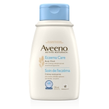 aveeno eczema care body wash bottle
