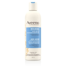 aveeno skin relief shower bath oil bottle