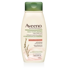 aveeno apricot and honey body wash bottle
