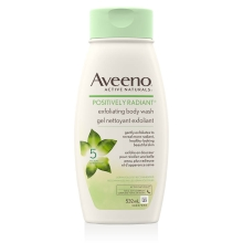 aveeno positively radiant body wash bottle