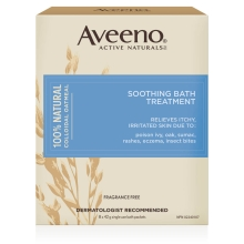 aveeno soothing bath treatment box