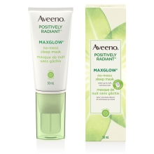 aveeno maxglow sleep mask tube and box