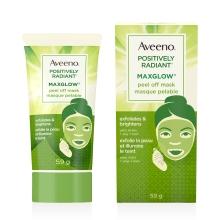 Tube et boîte du masque pelable pour le visage Aveeno Maxglow