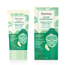 aveeno puremat peel off face mask tube and box