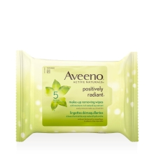 aveeno positively radiant face wipes package