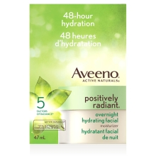 aveeno positively radiant overnight facial treatment box
